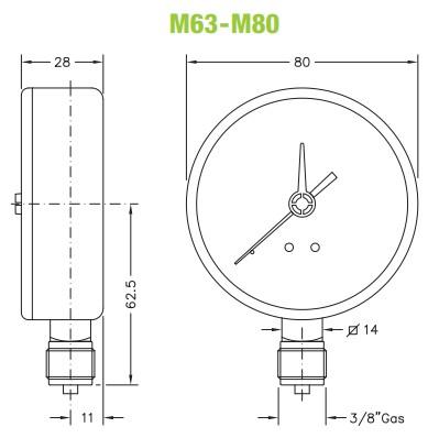 dimensiuni manometre gaz 1