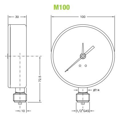 dimensiuni manometre gaz 2
