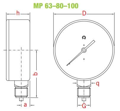 dimensiuni manometre gaz 3