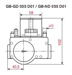 Dimensiuni GB-GD-ND 055 D01-1