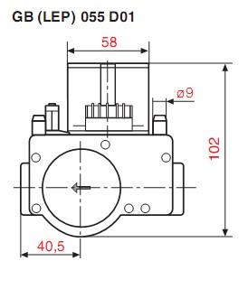 Dimensiuni GB-LEP 055 D01-1