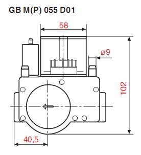 Dimensiuni GB-M-P 055 D01-2