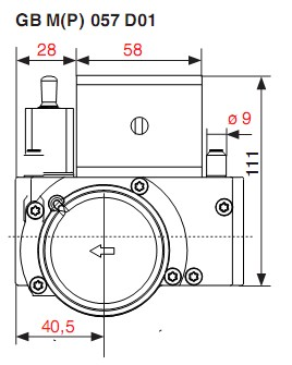 Dimensiuni GB-M-P 057 D01-1