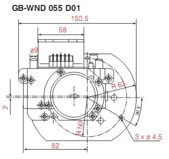 Dimensiuni GB-WND 055 D01-1