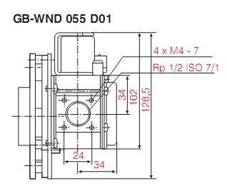 Dimensiuni GB-WND 055 D01-2