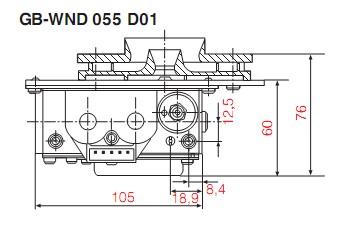 Dimensiuni GB-WND 055 D01-3