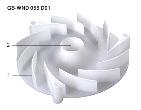 Placa turbina GW-WND 055 D01