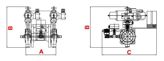 dimensions HF Bloc-VPM/DSLC-HP