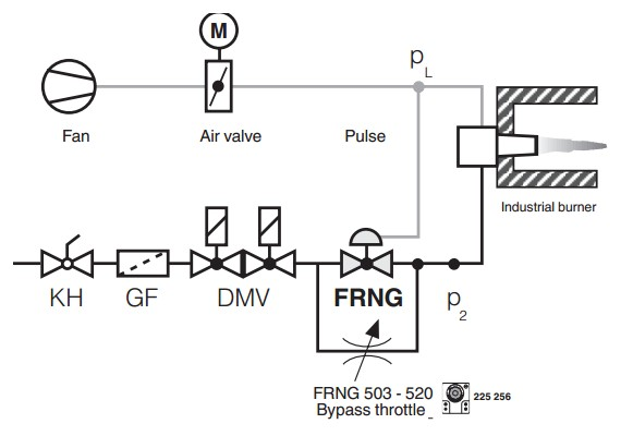 Pressure regulators FRNG Dungs