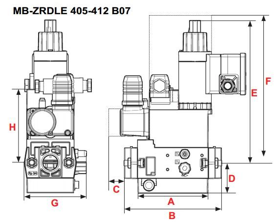 dimensions MB-ZRDLE 405-407-410-412 B07