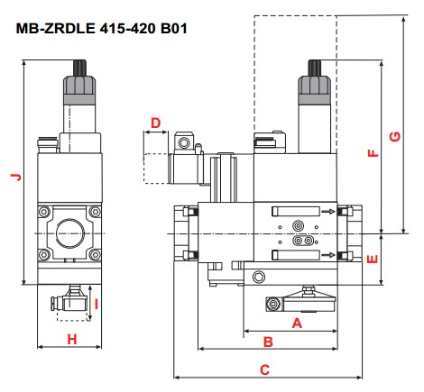 dimensions MB-ZRDLE 415-420 B01