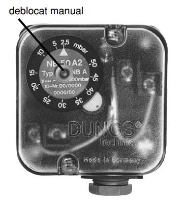 Limitator presiune UB A4 / NB A4 - 3