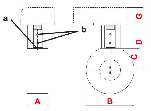dimensiuni DMK-P flansa 1