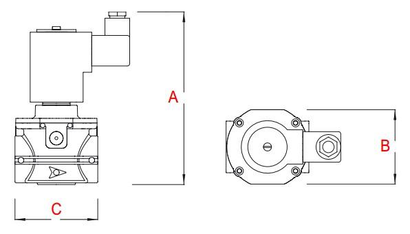 dimensiuni AV - 360 mbar-1