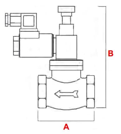 dimensiuni VR N.O. - 550 mbar-1